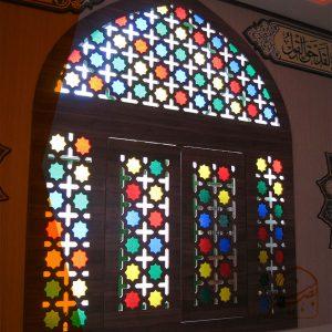 پنجره طرح گره چینی زیبا